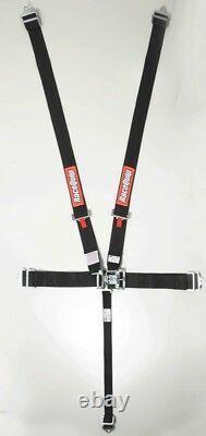 Racequip Seat Belt Harness 711001 3.000 Black 5-Point Latch
