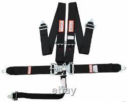 Racerdirect New Sfi 16.1 Latch & Link 5 Point Racing Harness Seat Belt Black