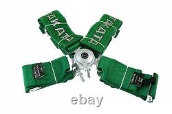Racing Seat Belts Sport M-5108 4-points 3 Green Takata Replica Harness