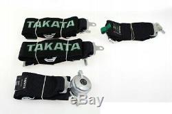 Racing Seat Belts Sport M-5113 4-points 3 Black Takata Replica Harness