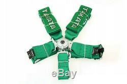 Racing Seat Belts Sport M-5116 5-points 3 Green Takata Replica Harness