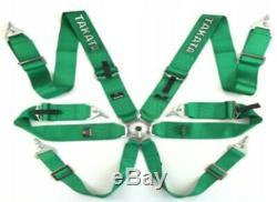 Racing Seat Belts Sport M-5117 6-points 3 Green Takata Replica Harness