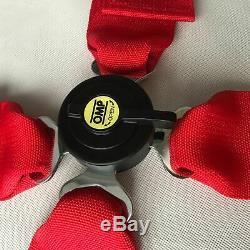 Red 4 Point Camlock Quick Release Racing Seat Belt Harness