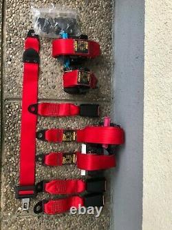 Red seat belts Harness rote sicherheitsgurte set from Fiat Cinquecento Sporting