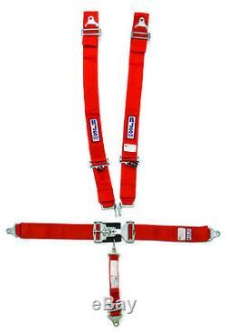 Rjs Racing Seat Belts Harness Red Ind L&l Bolt-in 5pt 3 Shoulder 2sub #1127804