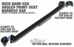 Rock Hard 4X4 Front Seat Angled Passenger Harness Bar 79-06 Jeep CJ YJ TJ LJ