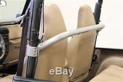 Rock Hard 4X4 Front Seat Straight Across Harness Bar 79-95 Jeep CJ & Wrangler YJ