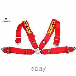 SABELT RED Universal 3' Inch 4 Point Racing Harness/Seat Belt Quick Release