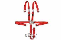 STR 2 NINJA 5-Point SFI Approved Racing Harness Seat Belt Nascar Buckle RED