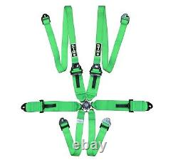 STR 6-Point 3 to 2 FHR HANS Race/Rally Harness Seat Belt FIA 2025 Green NEW