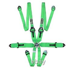 STR 6-Point 3 to 2 FHR HANS Race/Rally Harness Seat Belt FIA 2026 Green NEW