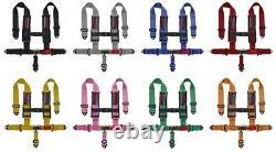 STV Motorsports Red Polaris Seat Belt Harness 4-Point 3 Pads RZR XP1000 XP1K