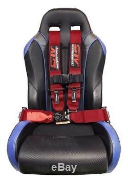 STV Motorsports Safety Seat Belt Harness Red 4 Point 3 UTV RZR XP Razor Racing