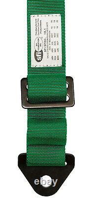 STV Motorsports Universal 5 Point Racing Seat Belt Harness (Green)