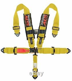 STV Motorsports Universal YELLOW 5 Point Quick Release Racing Seat Belt Harness