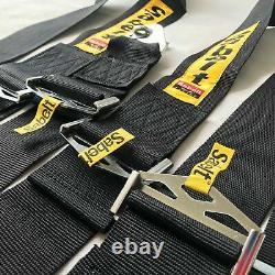 Sabelt 4 Point Camlock Quick Release Seat Belt Harness Racing Black