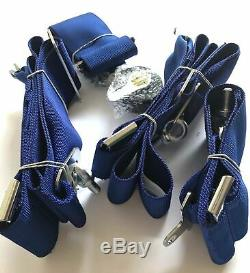 Sabelt Blue 4 Point Camlock Quick Release Racing Seat Belt Harness 3w