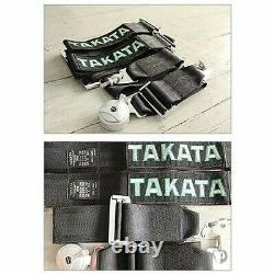 Seat Belt Harness TAKATA BLACK 4 Point Snap-On 3 With Camlock Racing DHL EXPRES
