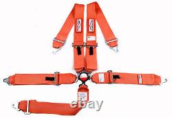 Sfi 16.1 Racing Harness 5 Point Roll Bar Mount 3 Cam Lock Seat Belt Orange