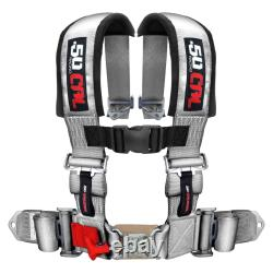 Silver Race H Harness Seat Belt 4 Point Pads for Sand Rail 2x2 style Longtravel