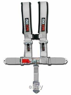 Silver Racing Harness Seat Belt 5 Point Ford Mustang Fastback Turbo LX Cobra R