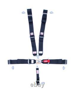 Simpson Sport Harness Seat Belt L/l 5-pt Bolt-in #29043bk Sfi 16.1 Bolt-in