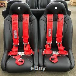 Slasher 5 Point H-Style 3 Seat Belt Harness Red RZR 1000 Turbo Maverick X3 Max