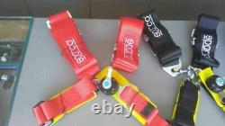 Sparco 4pt 4 Point Competition Racing Seat Belt Harness Universal