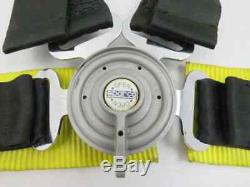 Sparco Racing 5 6 Point Seat Belt Harness Black with Yellow Pads Center Release AM