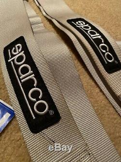 Sparco Racing Seat Belt Safety Harness SILVER 3 Inch 4 Point 4PT USED