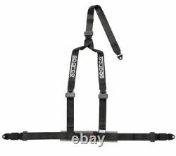 Sparco Racing Street 3 Point Bolt-In 2 Seat Belt Harness (Black)
