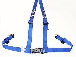 Sparco Racing Street 3 Point Bolt-In 2 Seat Belt Harness (Blue)