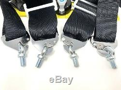 Sparco Racing Style 4 Point 3 Bolt Down Safety Seat Belt Harness Universal