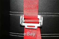Sports Racing Harness Seat Belt 2 4 Point Fixing Quick Release Red