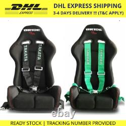 TAKATA 4 Point Snap-On 3 With Camlock Racing Seat Belt Harness Universal 1 Set