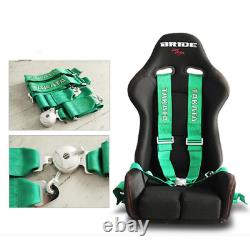 TAKATA 4 Point Snap-On 3 With Camlock Racing Seat Belt Harness Universal Green