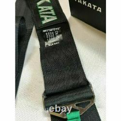 TAKATA BLACK 4 Point Snap-On 3 With Camlock Racing Seat Belt Harness Universal