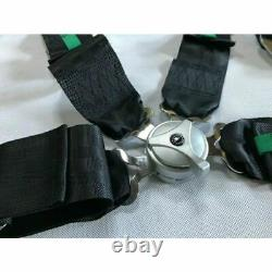 TAKATA BLACK 6 Point Snap-On 3 With Camlock Racing Seat Belt Harness Universal