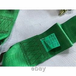 TAKATA GREEN 4 Point Snap-On 3 With Camlock Racing Seat Belt Harness Universal