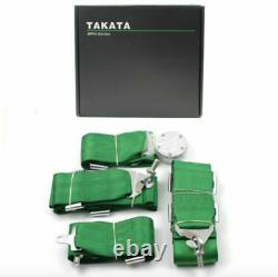 TAKATA GREEN 4 Point Snap-On 3 With Camlock Seat Belt Harness Universal x 2