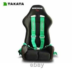 TAKATA GREEN 6 Point Snap-On 3 With Camlock Racing Seat Belt Harness Universal