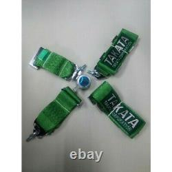 TAKATA GREEN Universal 3' Inch 4 Point Racing Harness/Seat Belt Quick Release