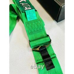 TAKATA GREEN Universal 3' Inch 6 Point Racing Harness/Seat Belt Quick Release