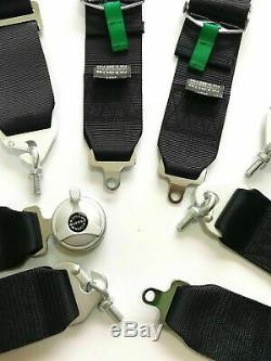 TKATA 4 Point Camlock Quick Release Racing Seat Belt Harness Black