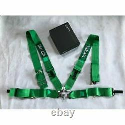Takata 4 Point SnapOn 3 With Camlock Racing Seat Belt Harness Universal Green