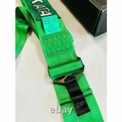 Takata 4 Point Snap-On 3 + Camlock Racing Seat Belt Harness Green Uni DHL SHIP