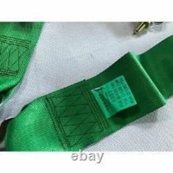 Takata 4 Point Snap-On 3 Camlock Racing Seat Belt Harness Universal Green