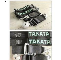 Takata 4 Point Snap-On 3 With Camlock Racing Seat Belt Harness Universal BLACK