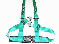 Takata DRIFT II 4 Point Snap-On 2 Racing Seat Belt Harness (Green)