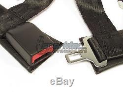 Takata Drift II Snap-On Seat Belt Safety Harness Black 2 Shoulder/Lap 4-Point